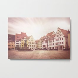 Freiberg, Germany Town Square Metal Print