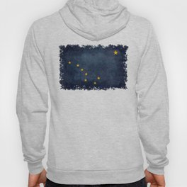 Alaskan State Flag in grungy textures Hoody