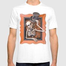 Rucus Studio Gentleman Skeleton White MEDIUM Mens Fitted Tee
