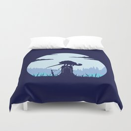 Grey Wolf Sif (Dark Souls) Duvet Cover