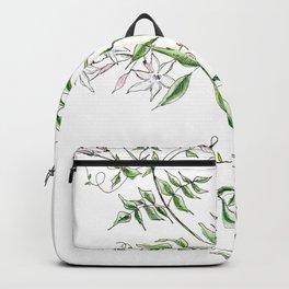 Jasmine Flower Illustration Backpack