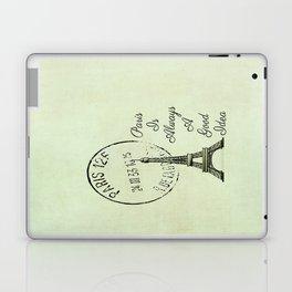 White Paris is Always a Good Idea Audrey Hepburn  Laptop & iPad Skin