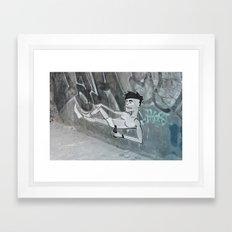 Smoking Pete Framed Art Print