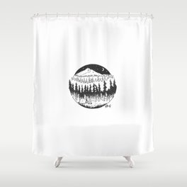 Your True Colours Are None At All Shower Curtain