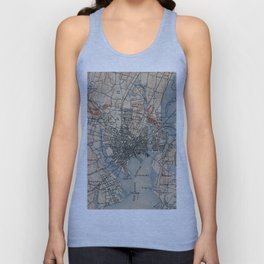 Vintage Map of New Haven Connecticut (1890) Unisex Tank Top
