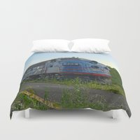 minnesota Duvet Covers featuring Minnesota Zephyr by John Andrews Design
