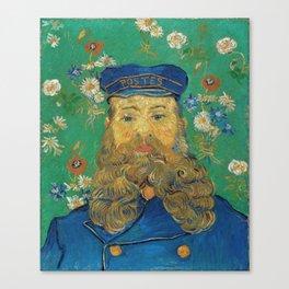 Vincent Van Gogh - Portrait of the Postman Joseph Roulin Canvas Print