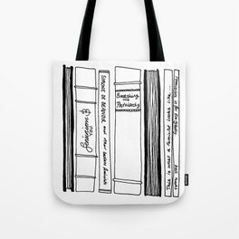 "Feminist Bookshelf ""Smashing the Patriarchy"" Tote Bag"