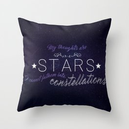 My Thoughts Are Stars - TFIOS Throw Pillow