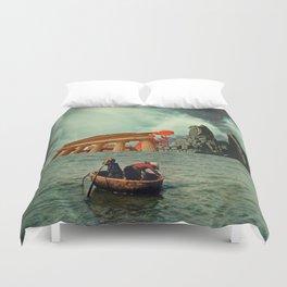 We Are All Fishermen Duvet Cover