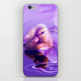 Baby Duck And Butterflies By Annie Zeno iPhone Skin