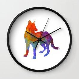 Portuguese Warren Hound in watercolor Wall Clock