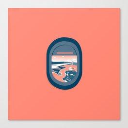 Window View Series (Plane) Canvas Print