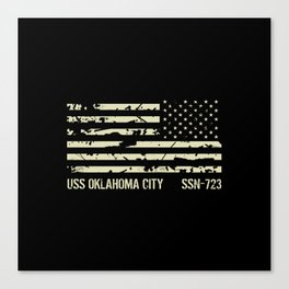 USS Oklahoma City Canvas Print