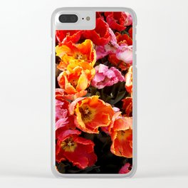 Tulip Flames Clear iPhone Case