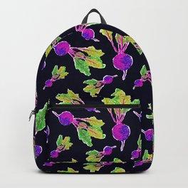 Feel the Beet in Skillet Black + Electric Purple Backpack