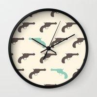 gun Wall Clocks featuring Gun by Grace