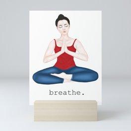 breathe in red Mini Art Print