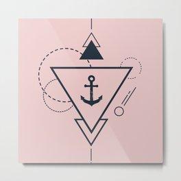 minimal art with an anchor Metal Print