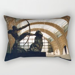 Paris Ceiling with Statue in Foreground, Orsay Museum, 2003 Rectangular Pillow