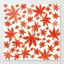 red maple leaves pattern Canvas Print