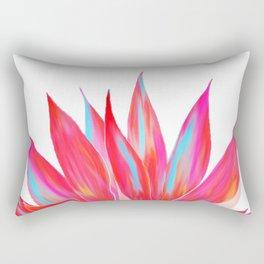 Sunny Agave Fringe Illustration Rectangular Pillow