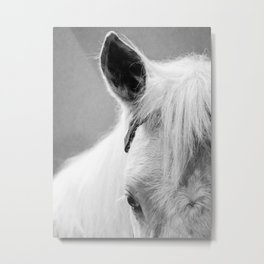 The White Horse Metal Print