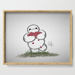 Heart Filled Baymax Serving Tray