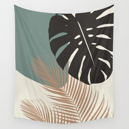Minimal Monstera Palm Finesse #1 #tropical #decor #art #society6 Wall Tapestry