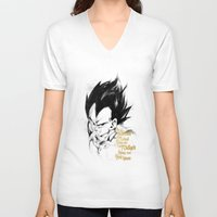 dragonball V-neck T-shirts featuring Dragonball Z - Pride by Straife01