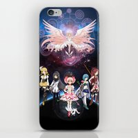 madoka magica iPhone & iPod Skins featuring Madoka Magica by Yiji