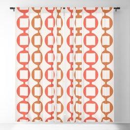 Beads Pattern - Orange & Cinnamon Blackout Curtain