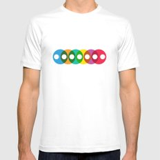 Geometric bubbles White Mens Fitted Tee MEDIUM