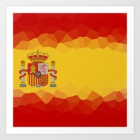 spanish Art Prints featuring SPANISH by emscrazy8