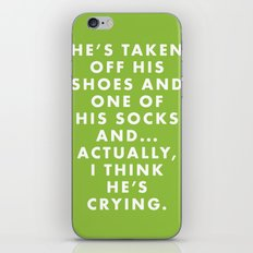 The Royal Tenenbaums - He's taken off his shoes and one of his socks and... actually... iPhone & iPod Skin