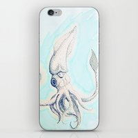 squid iPhone & iPod Skins featuring Squid by Davon Stephens