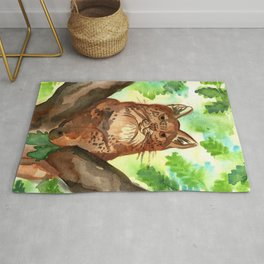 Lynx in the Forest Rug