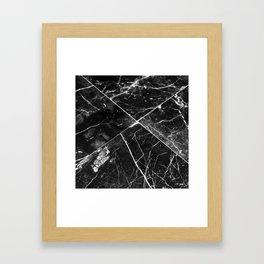 Black Granite Tiles Framed Art Print