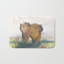 Bear Family Bath Mat