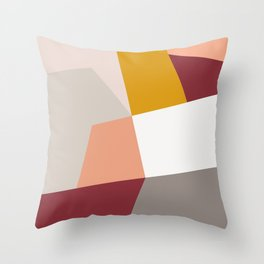 Abstract Geometric 27 Red Throw Pillow