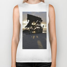 Wreck of the Peter Iredale at sunset Biker Tank