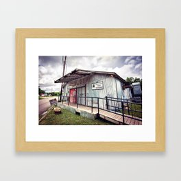Cheatham Street Warehouse, San Marcos, Texas Framed Art Print