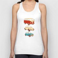 cars Tank Tops featuring Classic cars by John Holcroft