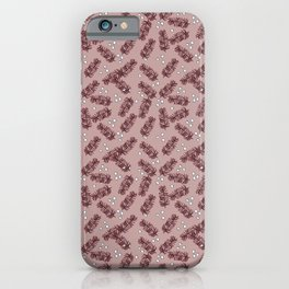 Pink Christmas Pine iPhone Case