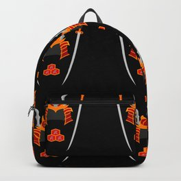 Samurai Helmet and Katana Backpack