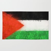 palestine Area & Throw Rugs featuring Palestine by 2b2dornot2b
