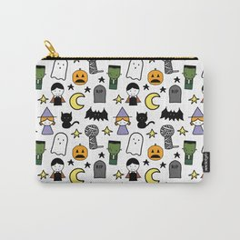 Hand Drawn Halloween Pattern and Illustration Carry-All Pouch