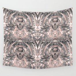 grey rose elegance pattern Wall Tapestry