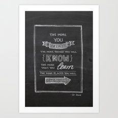 The More You Read Art Print