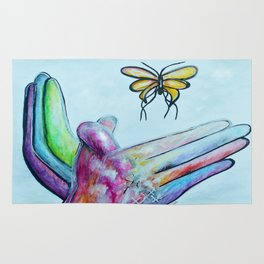 American Sign Language BUTTERFLY Rug